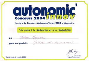 Association Christian Boisard Bégaiement, prix Autonomic 2004